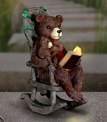 Solar Bears Reading in Rocking Chair - Click to enlarge