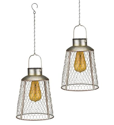 Solar Bell Edison Lanterns (Set of 2) - Click to enlarge