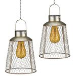 Solar Bell Edison Lanterns (Set of 2)