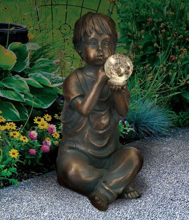 Solar Boy Garden Statue - Click to enlarge