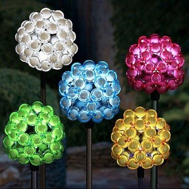 Solar Bubble Cluster Plant Stakes (Set of 6) - Click to enlarge