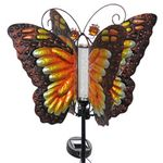 Solar Butterfly Bubble Stake - Orange