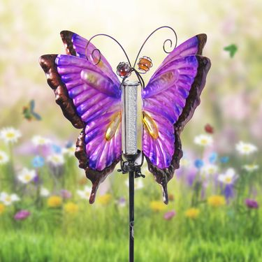 Solar Butterfly Bubble Stake - Purple - Click to enlarge
