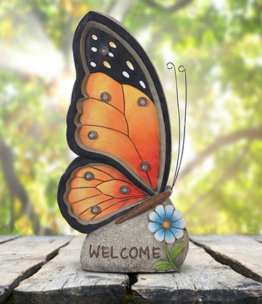 Solar Butterfly Marquee - Welcome - Click to enlarge
