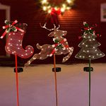 Solar Christmas Holiday Stakes (Set of 3)