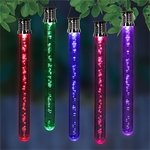 Solar Color Changing LED Bubble Sticks (Set of 4)