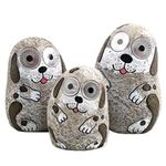 Solar Dogs w/Light Up Eyes (Set of 3) - Grey