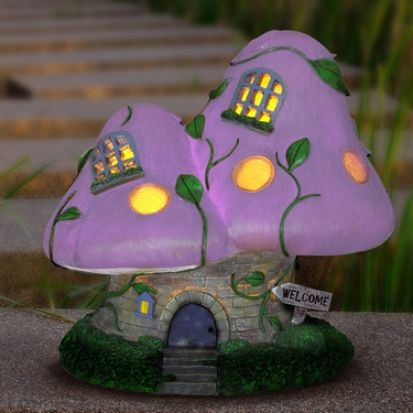 Solar Double Mushroom House - Click to enlarge