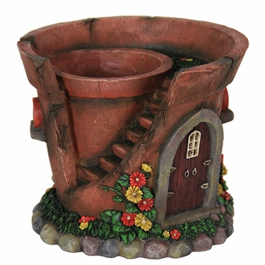 Solar Fairy House Flower Pot - Click to enlarge