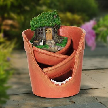 Solar Fairy Succulent Planter - Click to enlarge