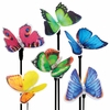 Solar Fiber-Optic Butterflies (Set of 6)