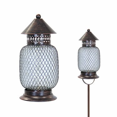 Solar Firefly Garden Stake/Lantern - Bronze Classic - Click to enlarge