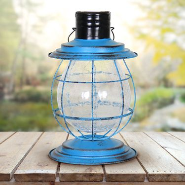 Solar Firefly Lantern w/Base - Blue - Click to enlarge