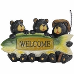 Solar Fisherman Bears w/Welcome Sign