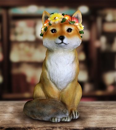 Solar Flower Crown Critter - Fox - Click to enlarge