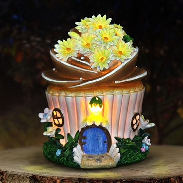 Solar Flower Cupcake House - Click to enlarge