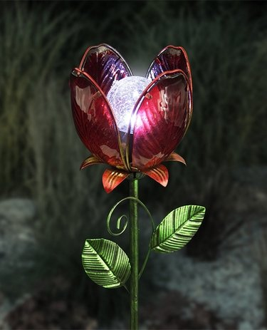 Solar Flower Garden Stake - Red - Click to enlarge