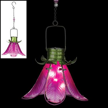 Solar Flower Lantern - Pink Lily - Click to enlarge