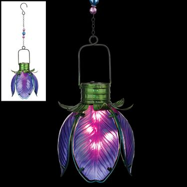 Solar Flower Lantern - Purple Iris - Click to enlarge