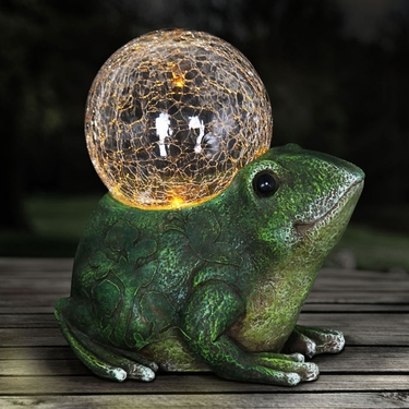 Solar Frog w/Glass Globe - Click to enlarge