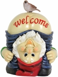 Solar Full Moon Gnome Welcome Sign