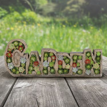 Solar Garden Succulent Marquee Sign - Click to enlarge