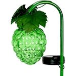 Solar Glass Grapes Garden Stake - Green