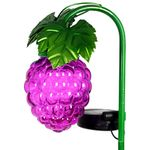 Solar Glass Grapes Garden Stake - Purple