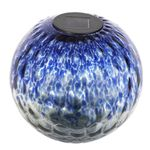Solar Glass Tabletop Orb - Blue & Grey