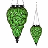 Solar Glass Tear Lantern - Green