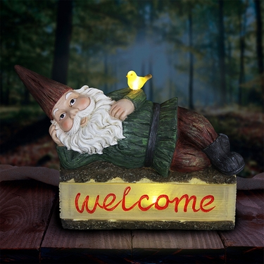 Solar Gnome on Welcome Log - Click to enlarge
