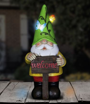 Solar Gnome w/Green Hat - Click to enlarge