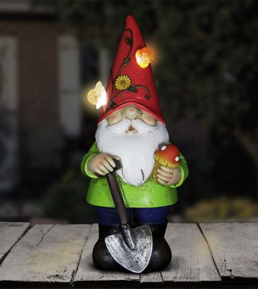 Solar Gnome w/Red Hat - Click to enlarge