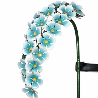 Solar Hanging Flowers Stake - Blue - Click to enlarge
