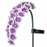 Solar Hanging Flowers Stake - Purple