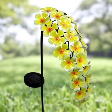 Solar Hanging Flowers Stake - Yellow - Click to enlarge