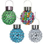 Solar Hanging Glam Balls (Set of 4)
