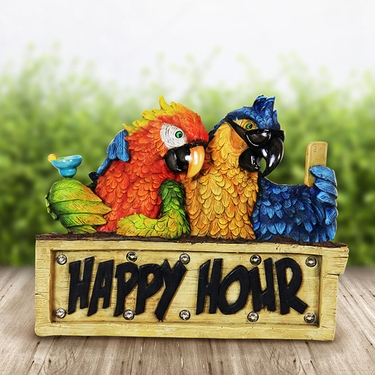 Solar Happy Hour Parrots - Click to enlarge