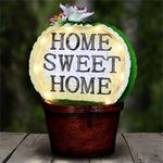 Solar Home Sweet Home Cactus Pot