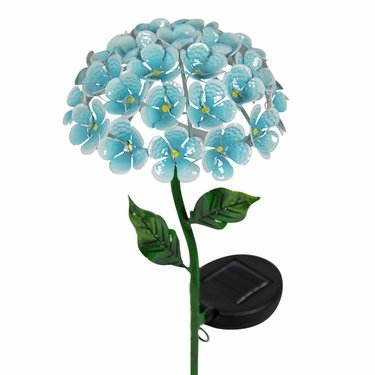 Solar Hydrangea Garden Stake - Blue - Click to enlarge