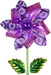 Solar Kinetic Filigree Flower Garden Stake
