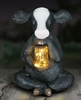 Solar LED Cow w/Jar of Fireflies