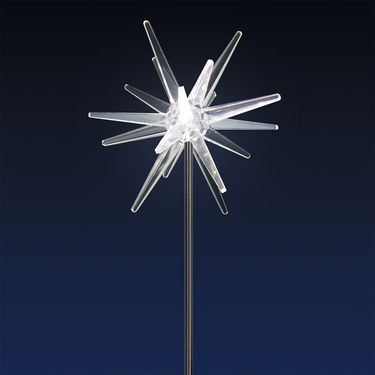 Solar LED Star Garden Stake - White - Click to enlarge