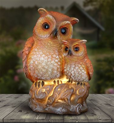 Solar Mama Owl & Baby Owl - Click to enlarge