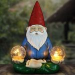 Solar Meditating Yoga Gnome