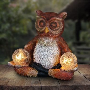 Solar Meditating Yoga Owl - Click to enlarge