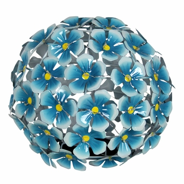 Solar Metal Tabletop Hydrangea - Blue - Click to enlarge