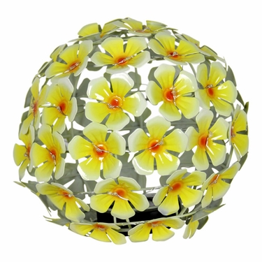 Solar Metal Tabletop Hydrangea - Yellow - Click to enlarge