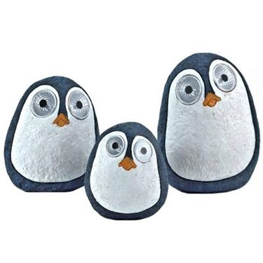 Solar Penguins w/Light Up Eyes (Set of 3) - Dark Blue - Click to enlarge