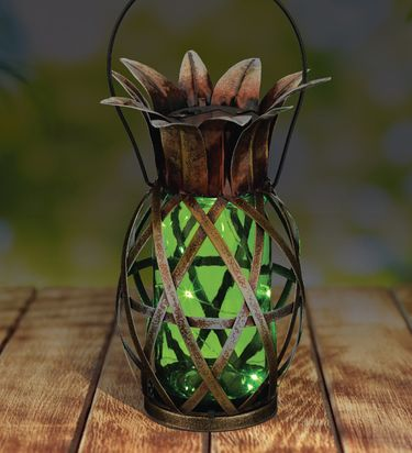 Solar Pineapple Lantern - Green - Click to enlarge